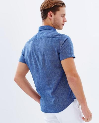 Cotton Linen Chambray Shirt