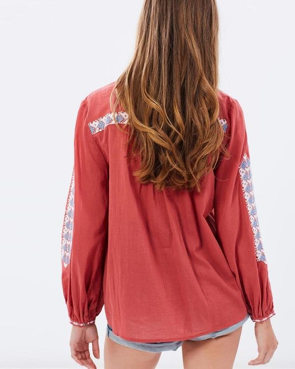 JAG Freedom Embroidered Blouse